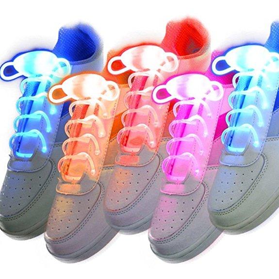 5 verschiedene leuchtende Schnürsenkel
